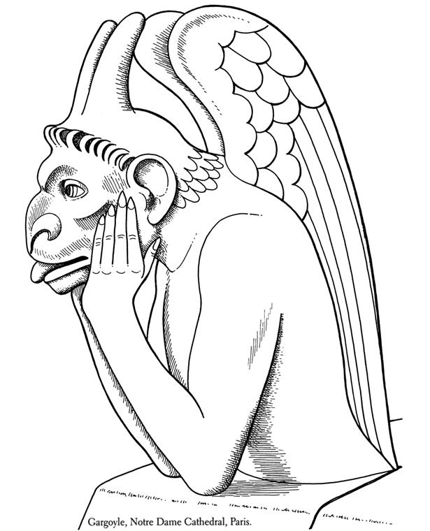 Gargoyle coloring #12, Download drawings