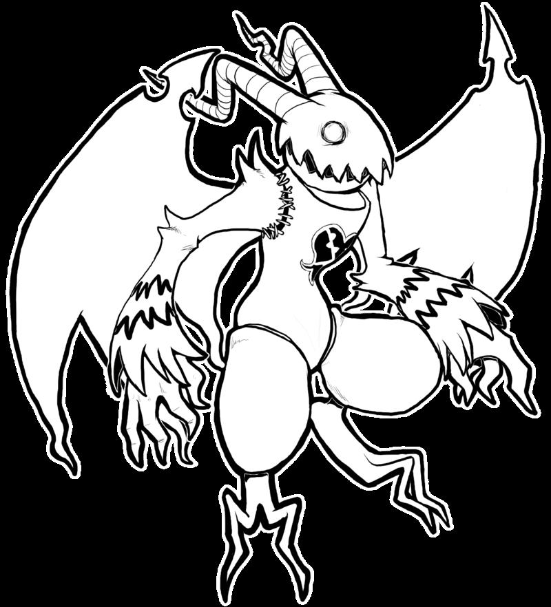 Gargoyle coloring #2, Download drawings