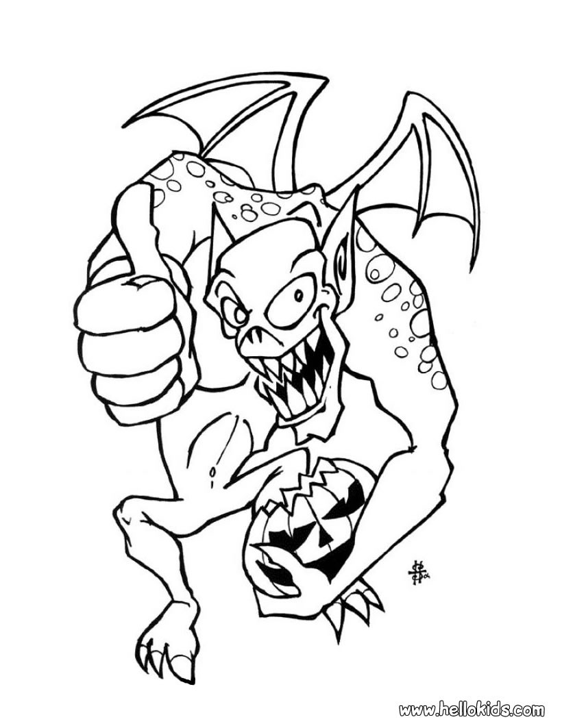 Gargoyle coloring #18, Download drawings