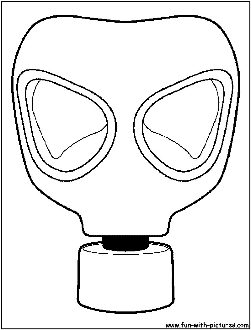Gas Mask coloring #10, Download drawings