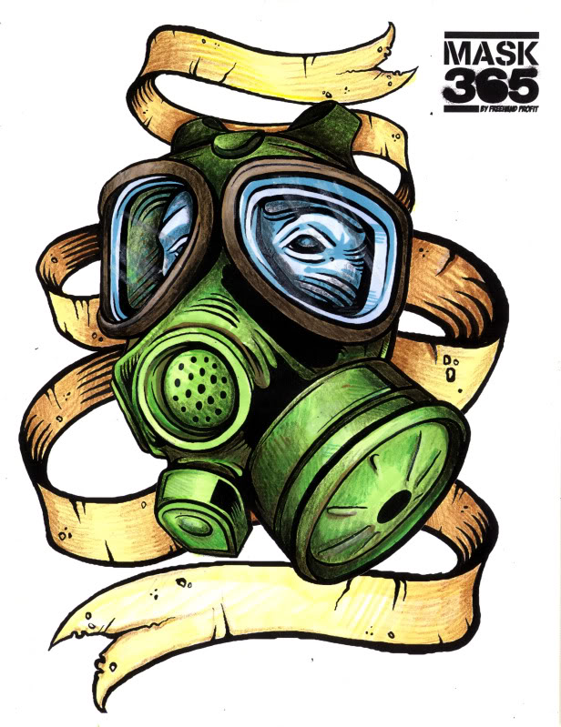 Gas Mask coloring #8, Download drawings