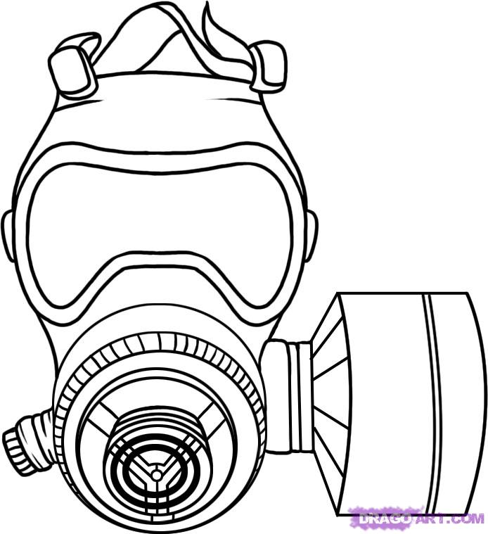 Gas Mask coloring #2, Download drawings