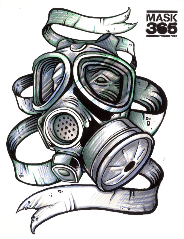 Gas Mask coloring #5, Download drawings