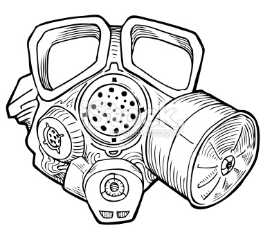 Gas Mask coloring #6, Download drawings