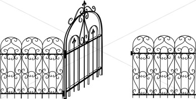 Gate clipart #9, Download drawings