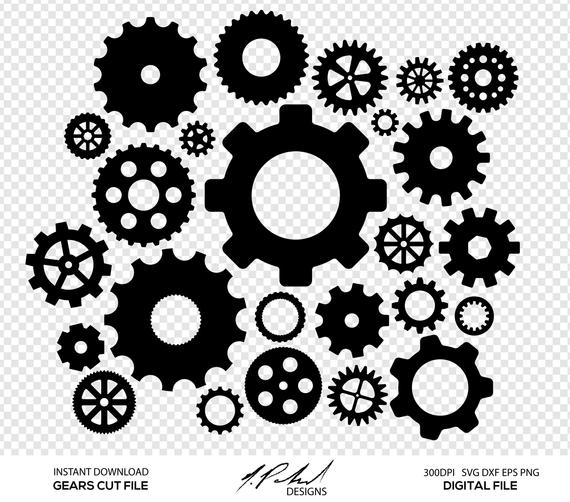 gear svg #1134, Download drawings
