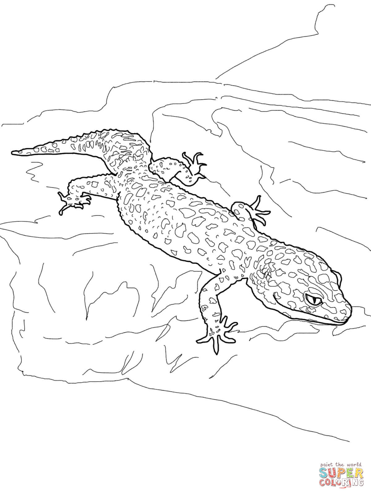 Leopard Lizard coloring #11, Download drawings