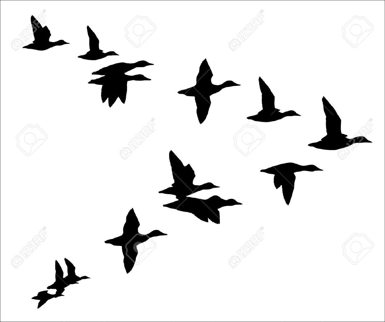 Geese Migration clipart #2, Download drawings
