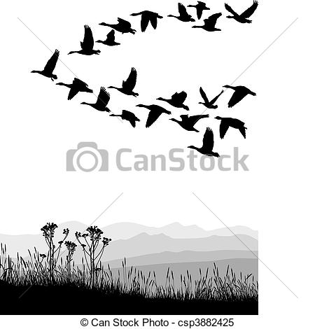 Geese Migration clipart #16, Download drawings