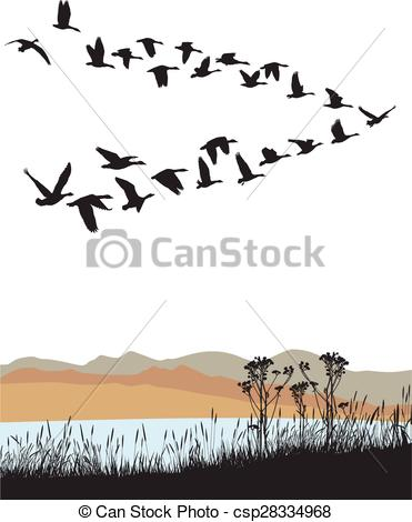 Geese Migration clipart #3, Download drawings