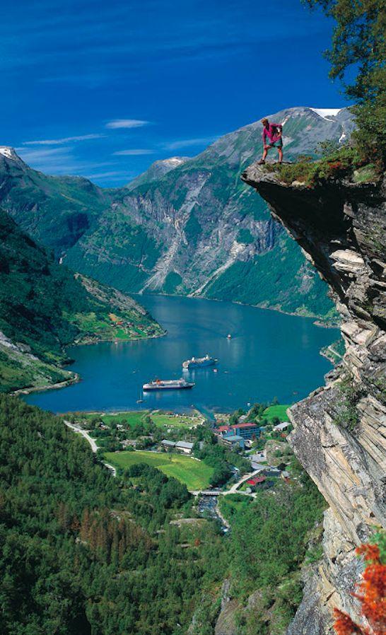 Geirangerfjord coloring #9, Download drawings