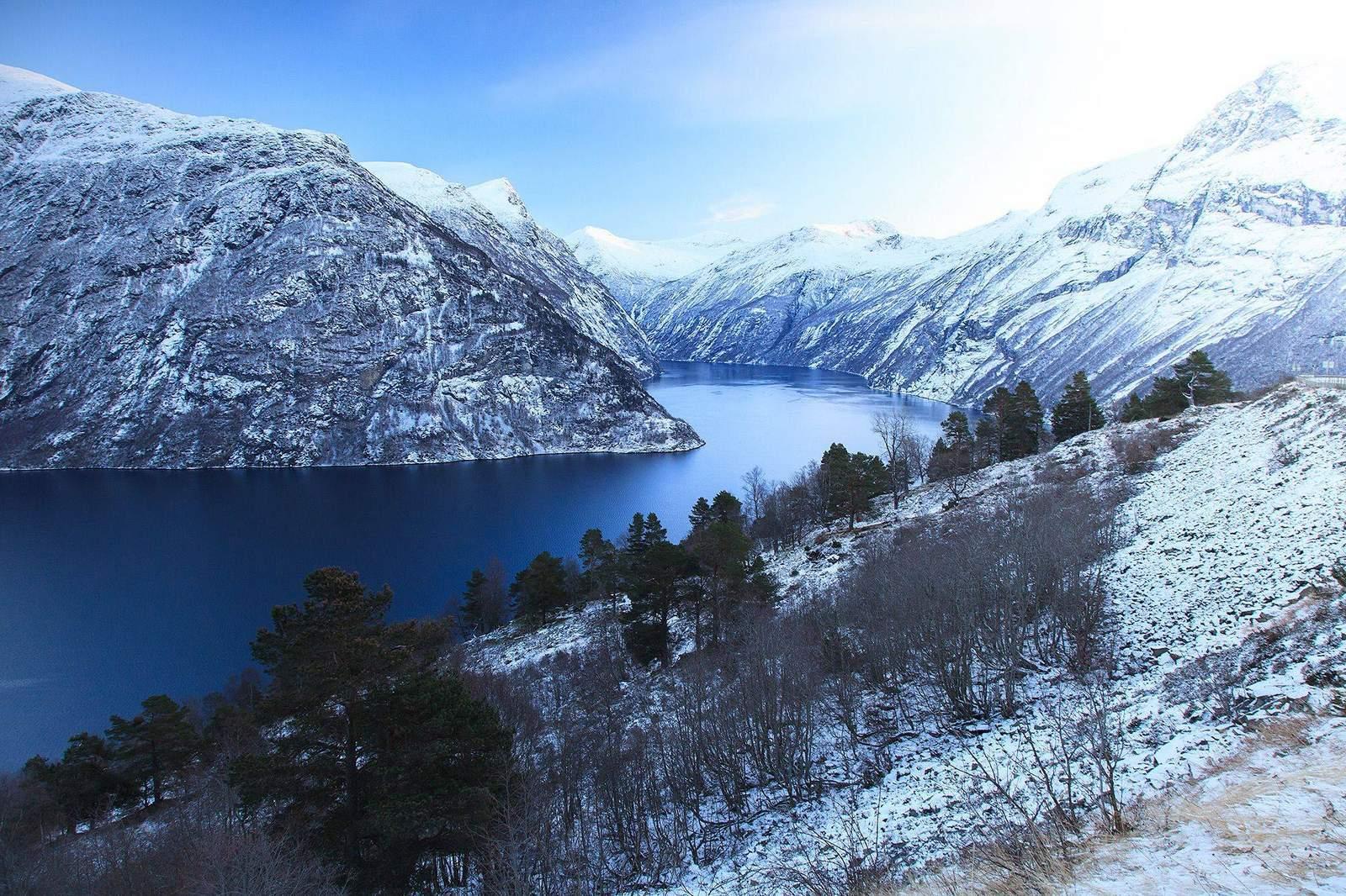 Geirangerfjord coloring #5, Download drawings