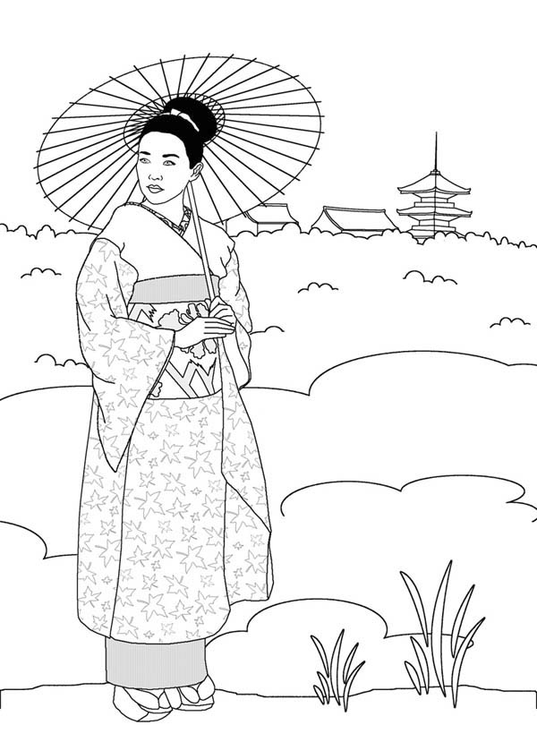free coloring pages japanese girls - photo#20