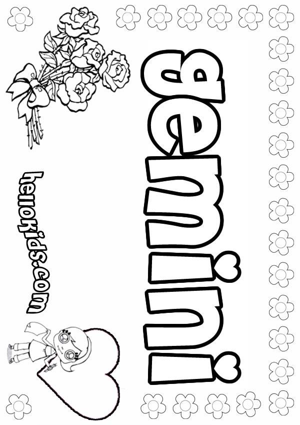 Gemini (Astrology) coloring #11, Download drawings