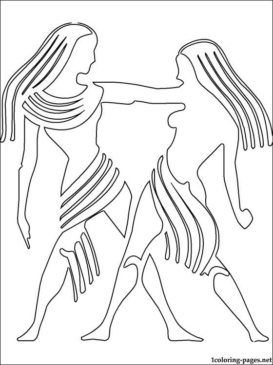 Gemini (Astrology) coloring #1, Download drawings