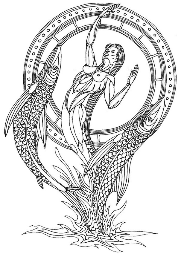Pisces coloring #12, Download drawings
