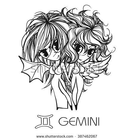 Gemini (Astrology) coloring #9, Download drawings