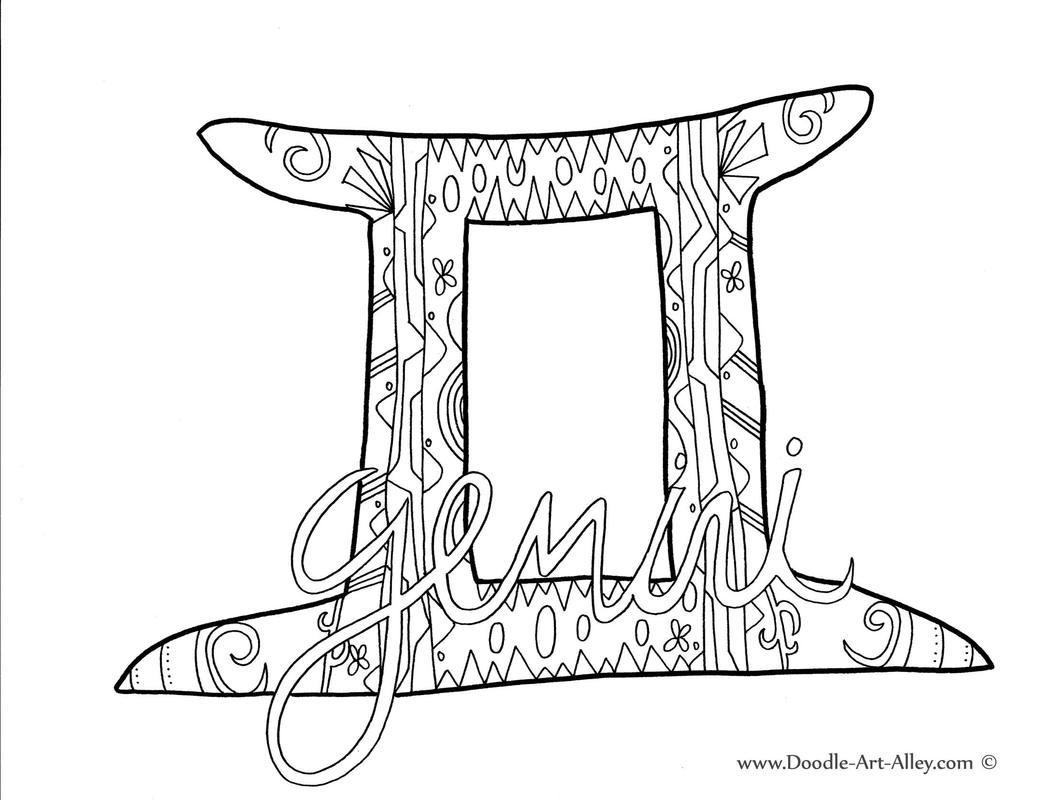 Gemini (Astrology) coloring #8, Download drawings