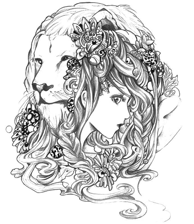 Gemini (Astrology) coloring #2, Download drawings