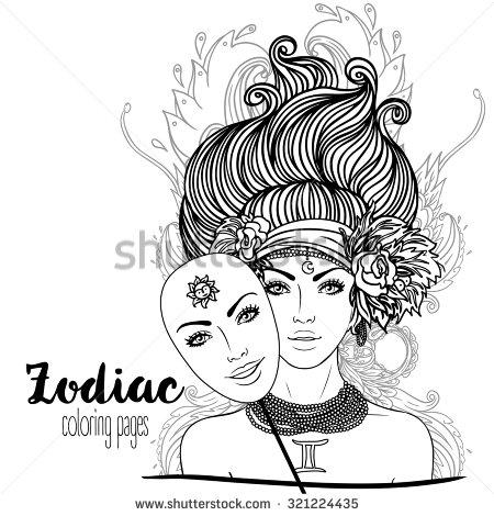 Gemini (Astrology) coloring #18, Download drawings