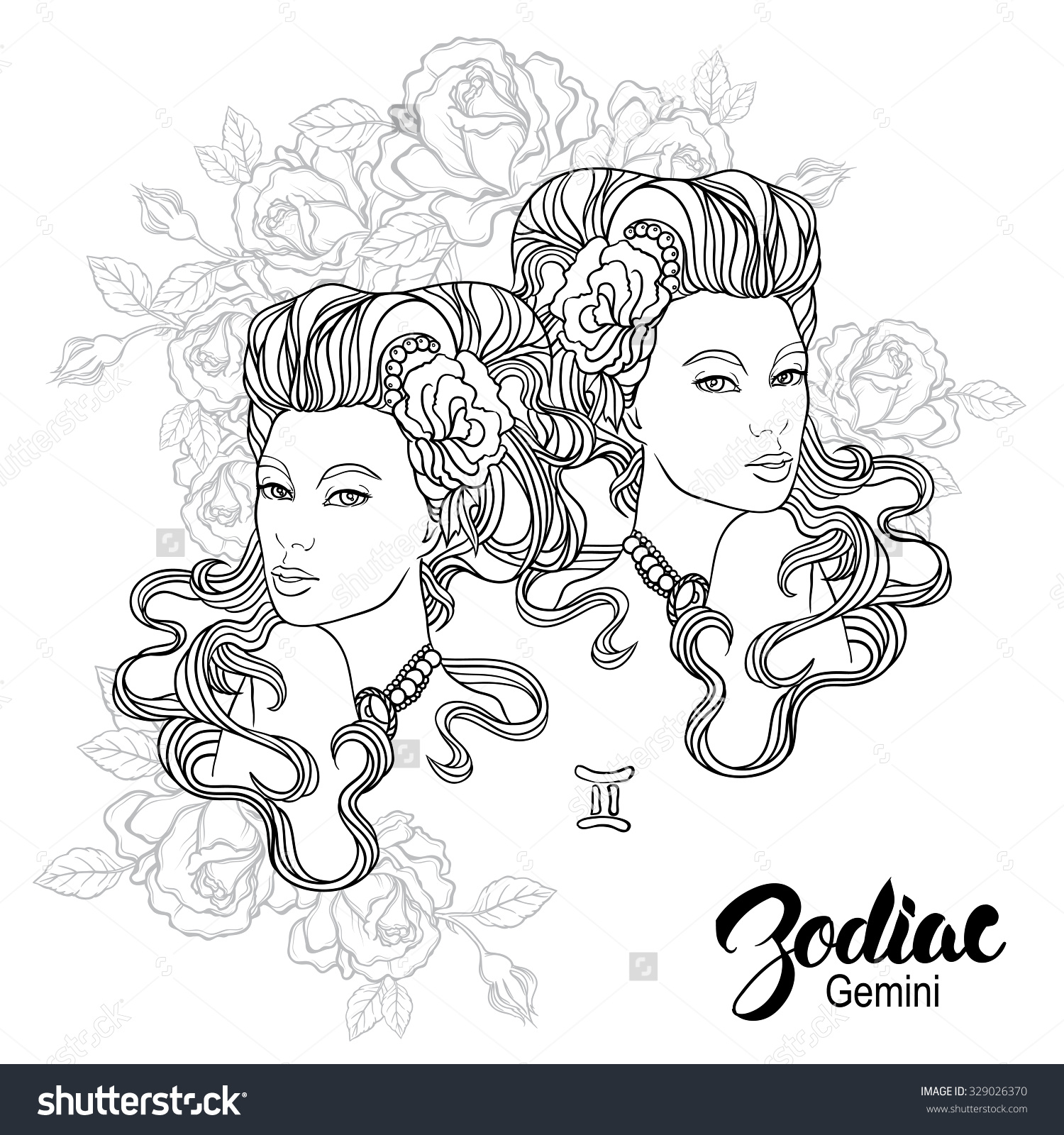 Gemini (Astrology) coloring #4, Download drawings