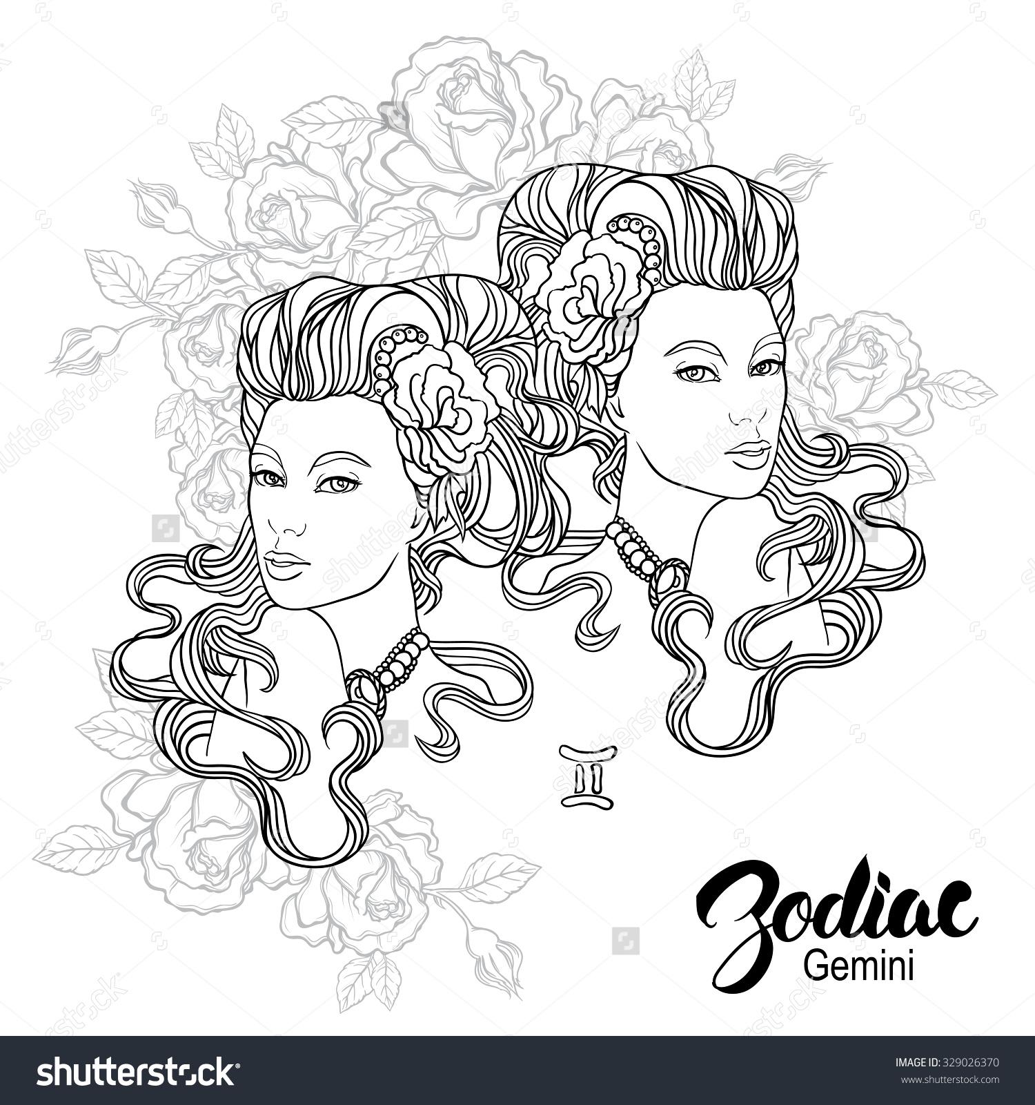 Gemini (Astrology) coloring #17, Download drawings