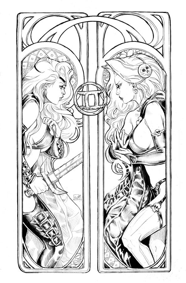 Gemini (Astrology) coloring #12, Download drawings