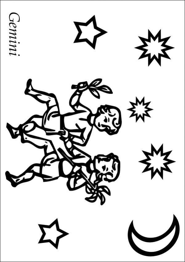 Gemini (Astrology) coloring #16, Download drawings