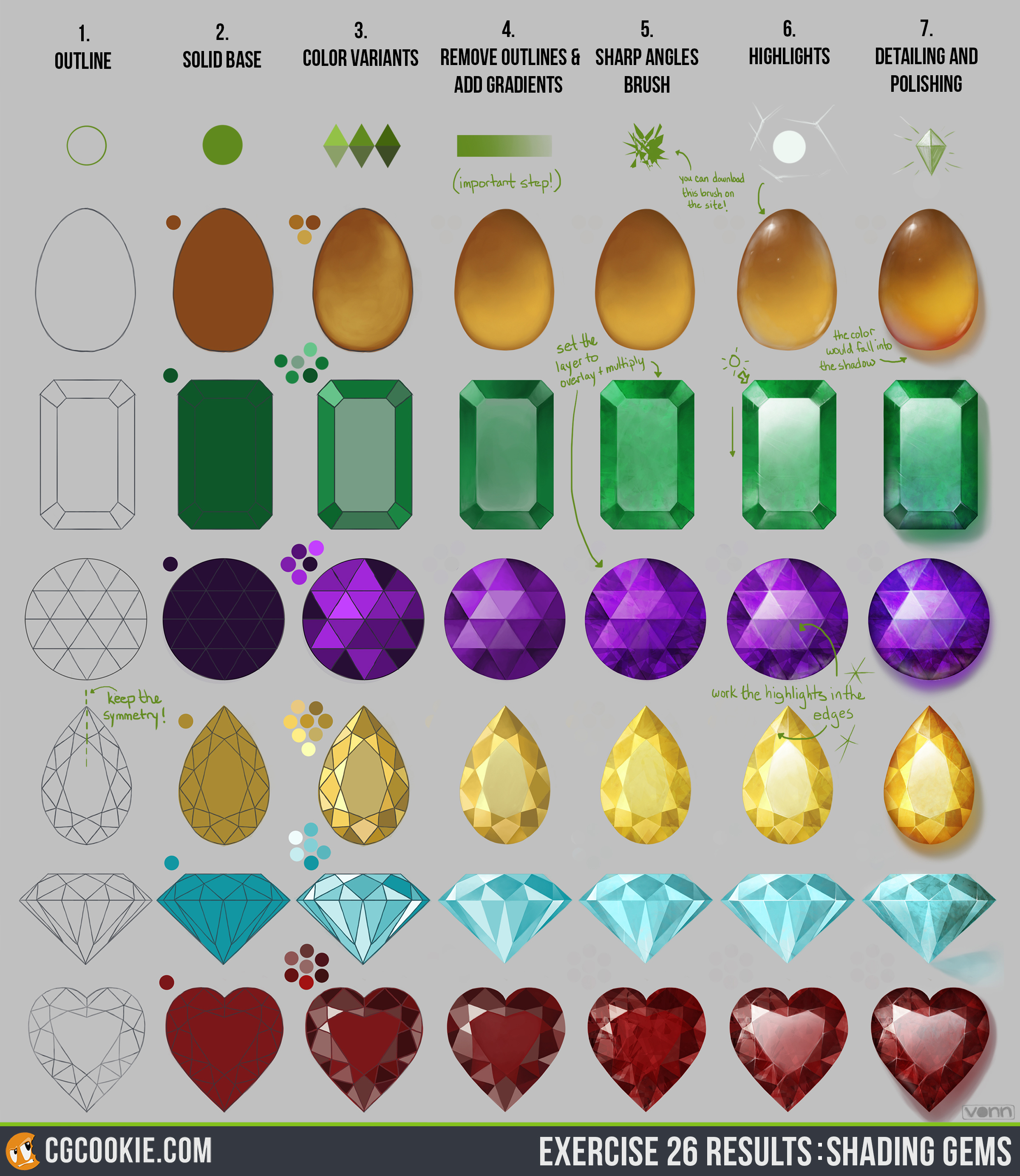 Gemstones coloring #2, Download drawings