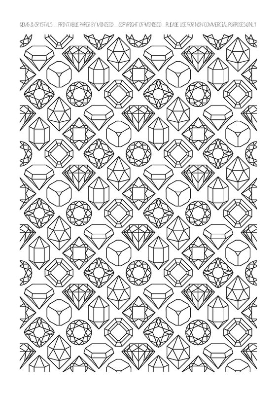 Gems coloring #12, Download drawings