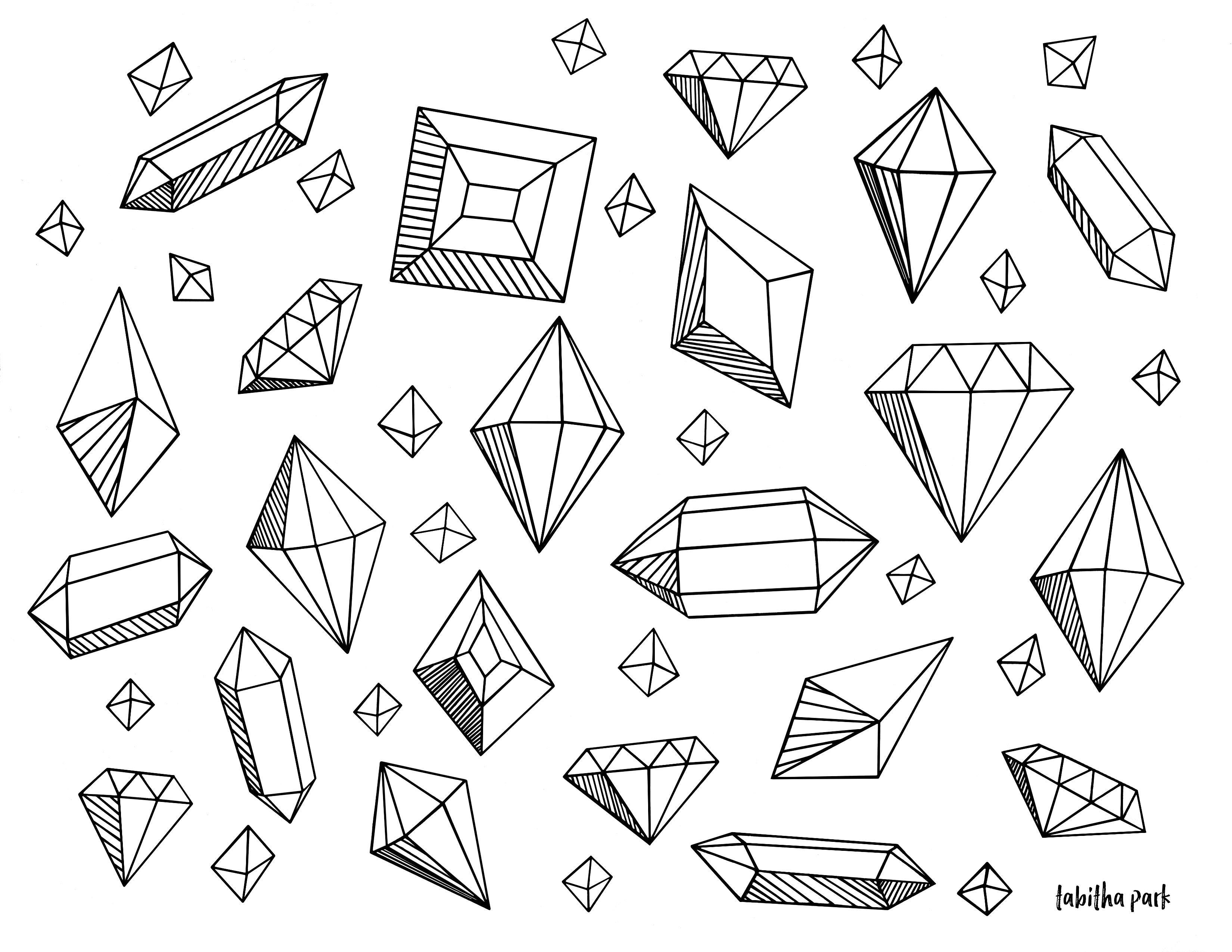 Gems coloring #7, Download drawings