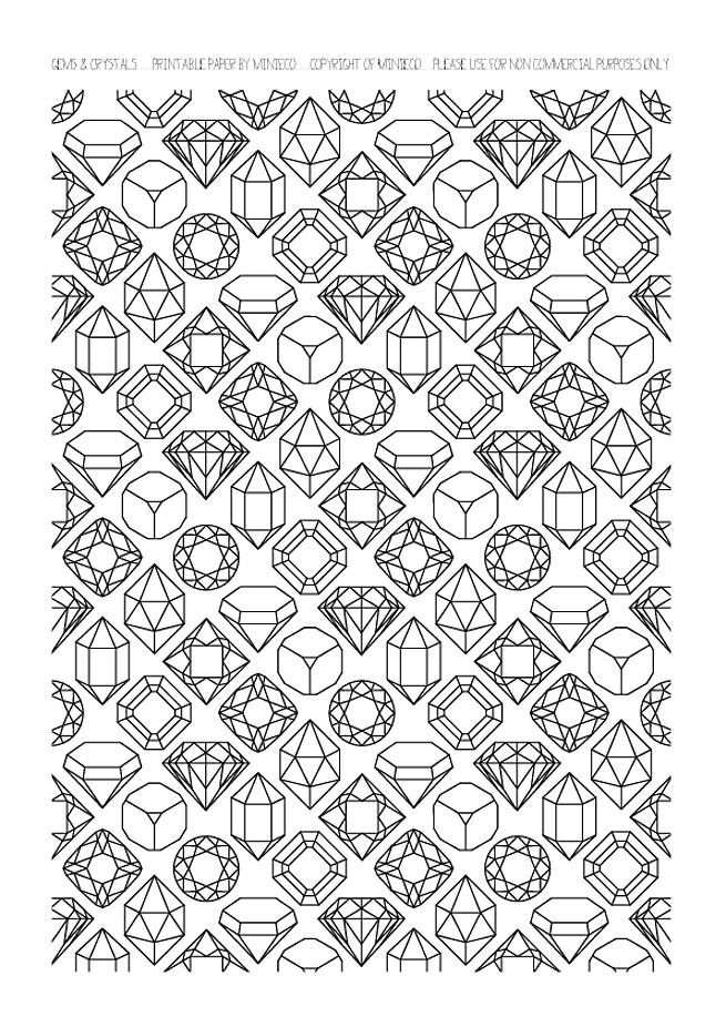 Gems coloring #16, Download drawings