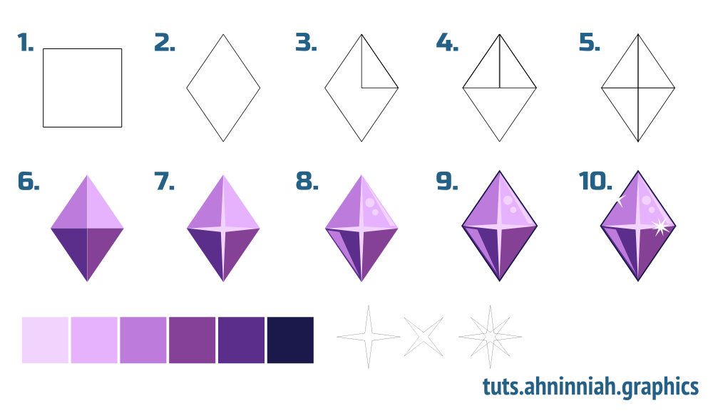 Gems coloring #5, Download drawings