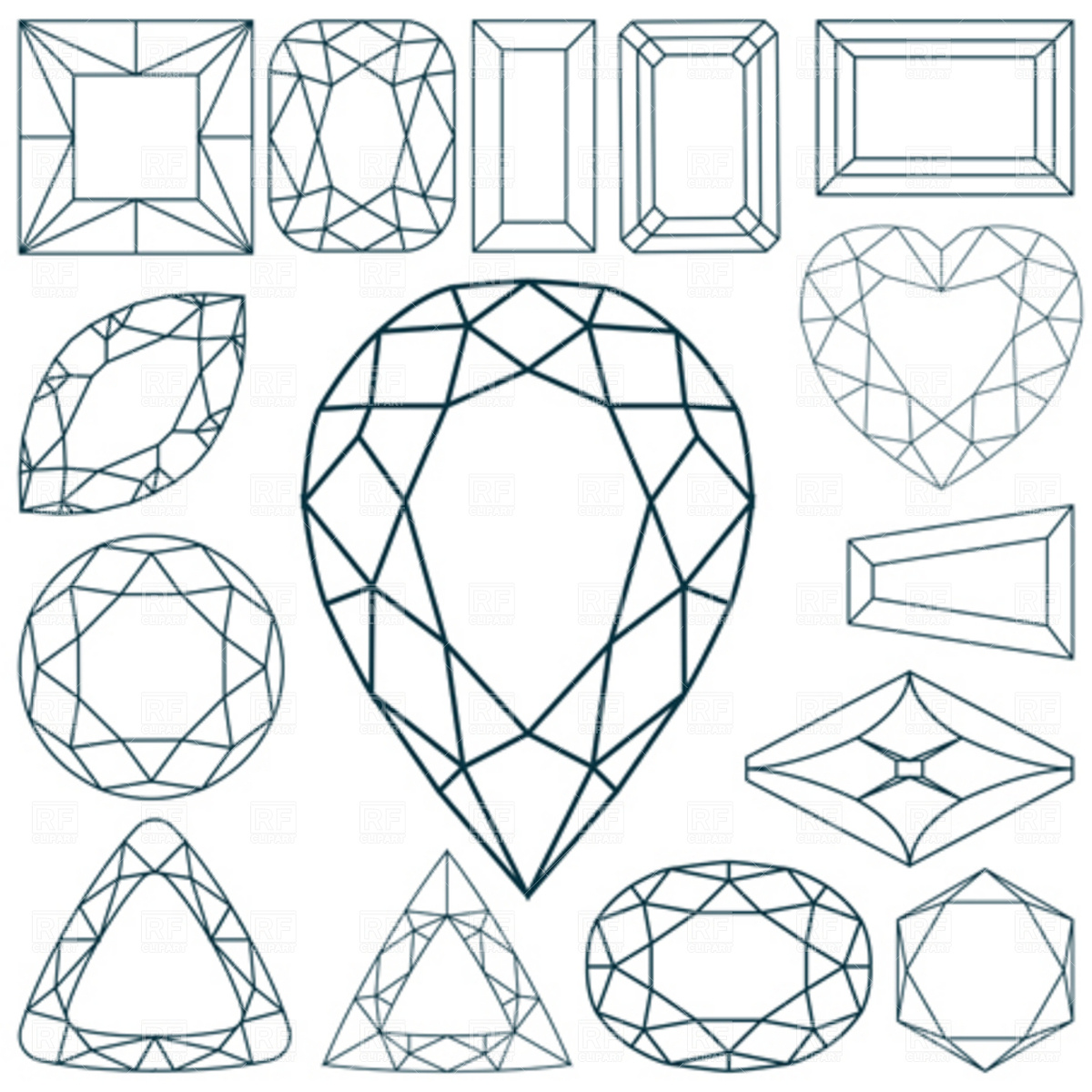 Gemstone clipart #3, Download drawings