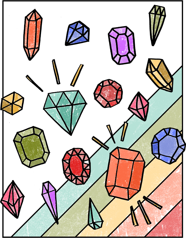 Gemstones coloring #1, Download drawings