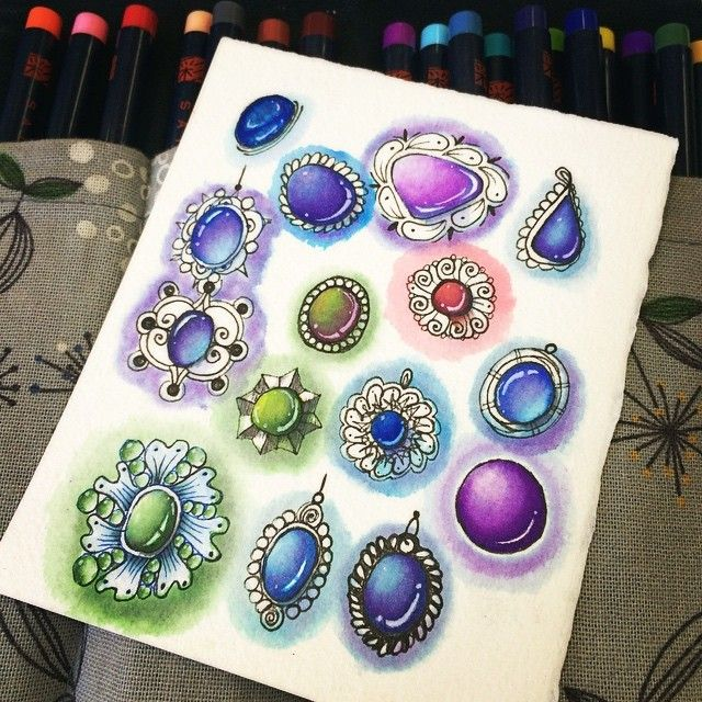 Gemstones coloring #14, Download drawings
