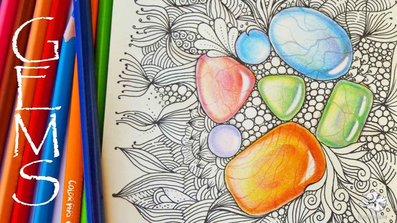 Gemstones coloring #15, Download drawings