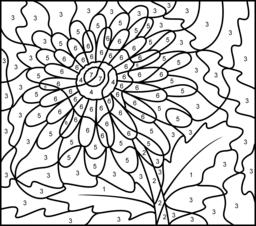 Gerbera coloring #14, Download drawings