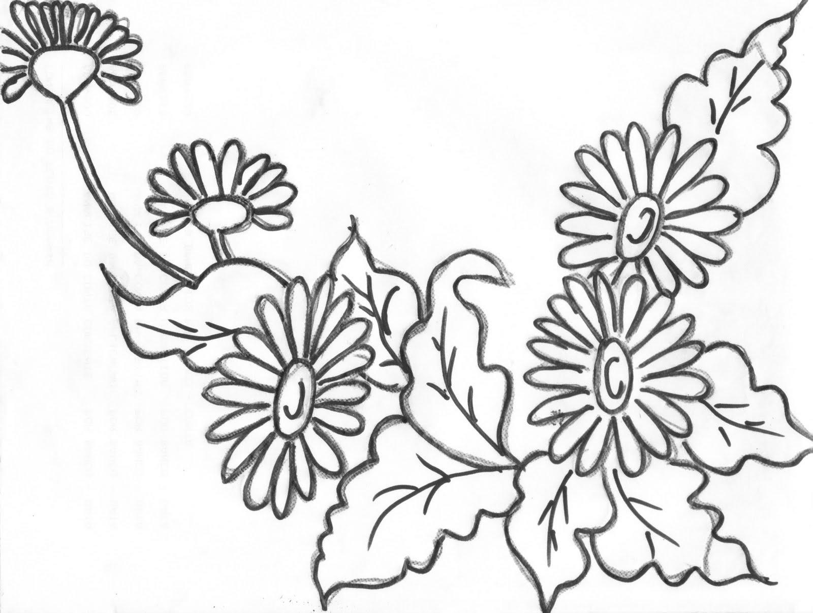 Gerbera coloring #4, Download drawings