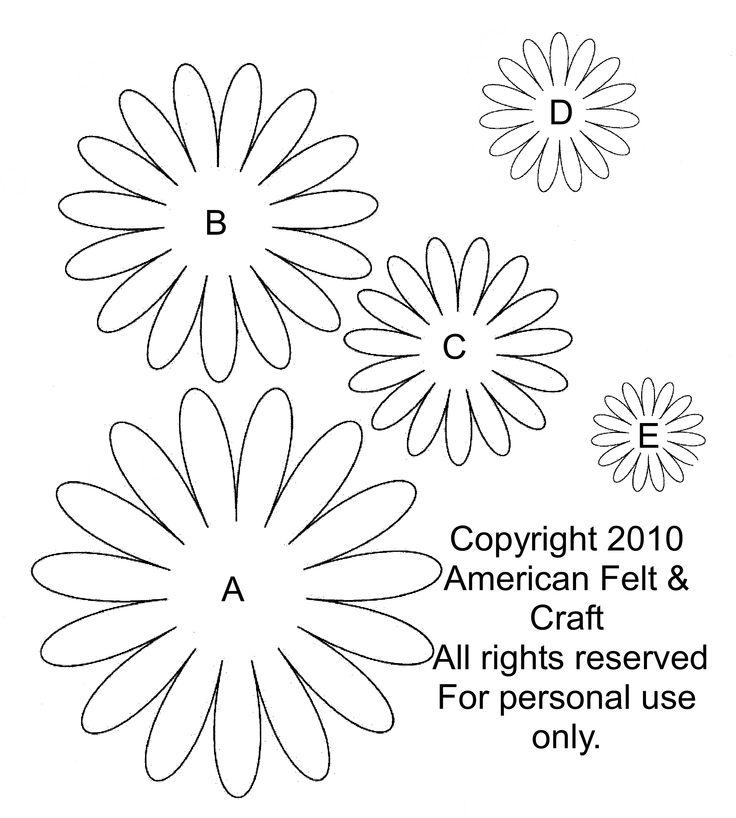 Шаблоны цветов из бумаги ромашки своими руками