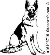 German Shepherd clipart #14, Download drawings