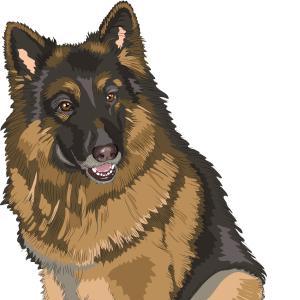 German Shepherd clipart #2, Download drawings