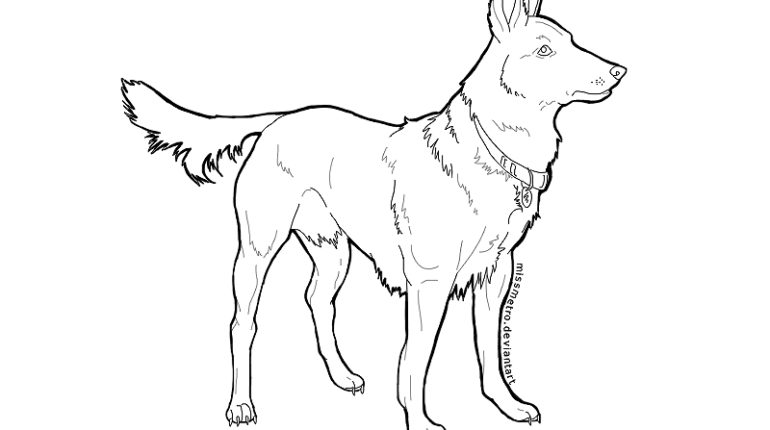 German Shepherd coloring #16, Download drawings