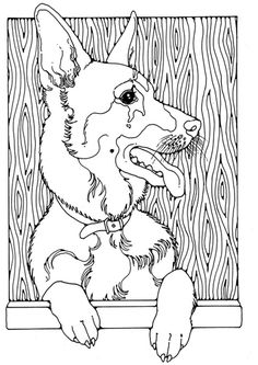 German Shepherd coloring #13, Download drawings