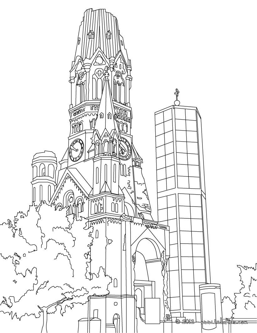 Neuschwanstein Castle coloring #18, Download drawings