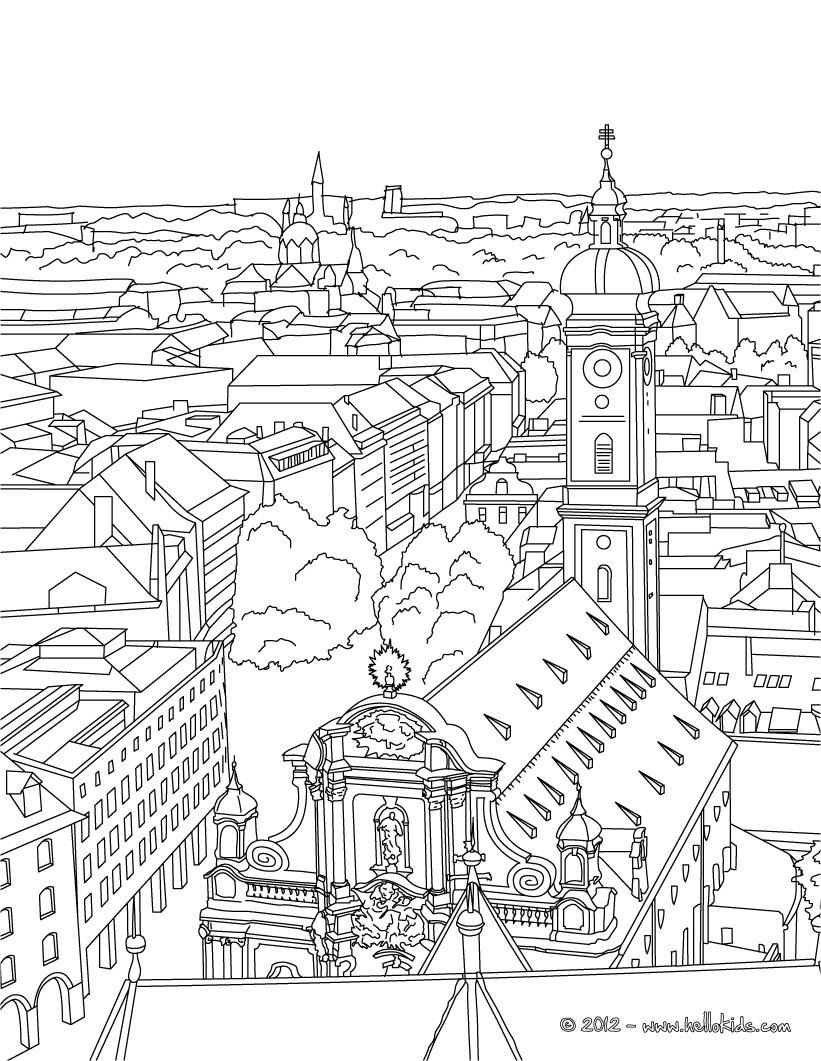 Neuschwanstein Castle coloring #14, Download drawings
