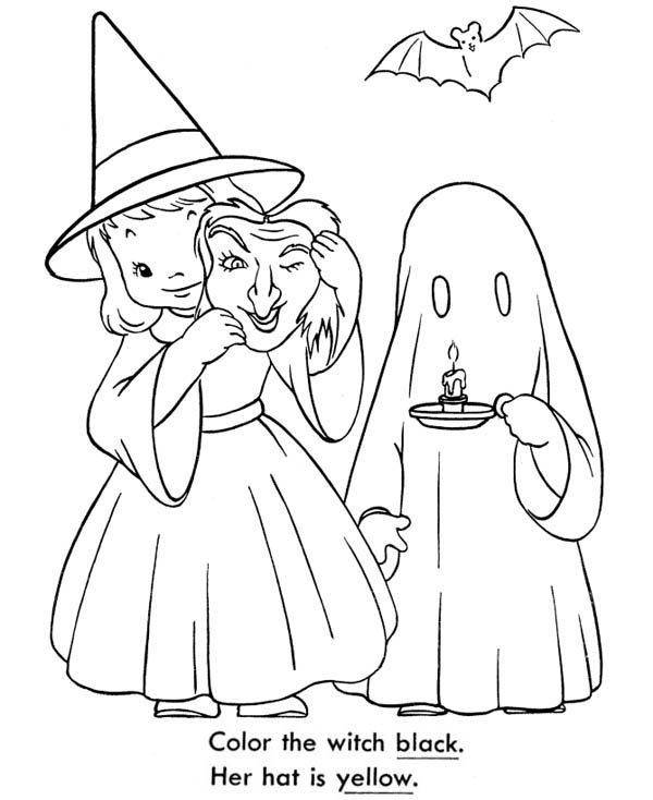 Ghostly Girl coloring #9, Download drawings