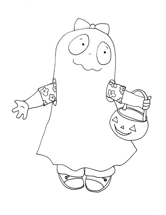 Ghostly Girl coloring #11, Download drawings