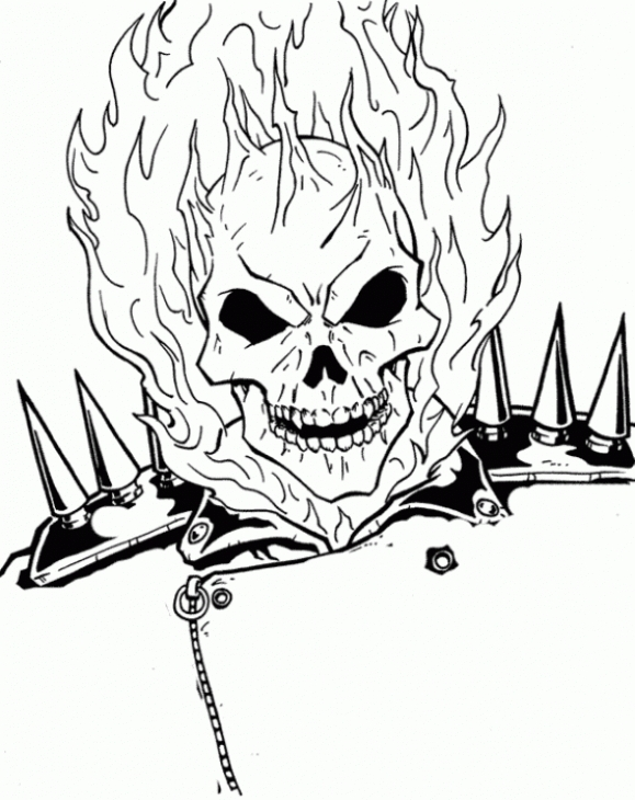Ghostrider coloring, Download Ghostrider coloring for free ...