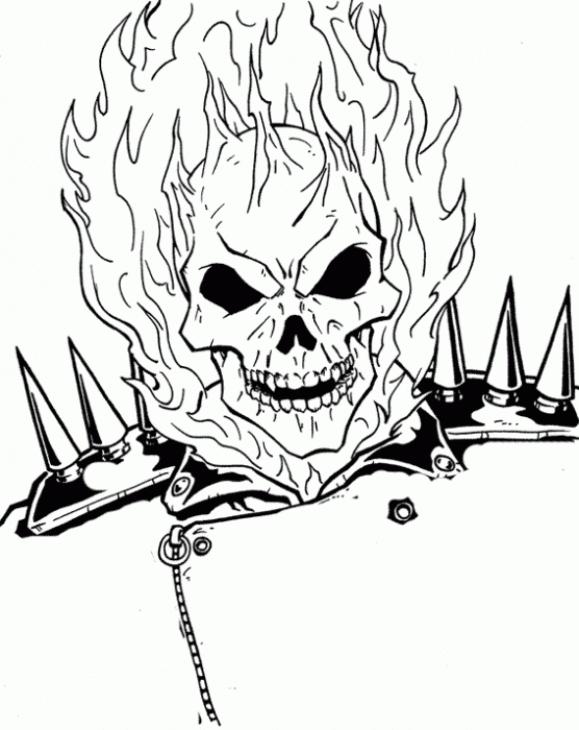 Ghostrider coloring #6, Download drawings